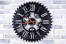 Настенные дизайнерские часы Круговорот Оригинальные металлические часы на стену, фото 2
