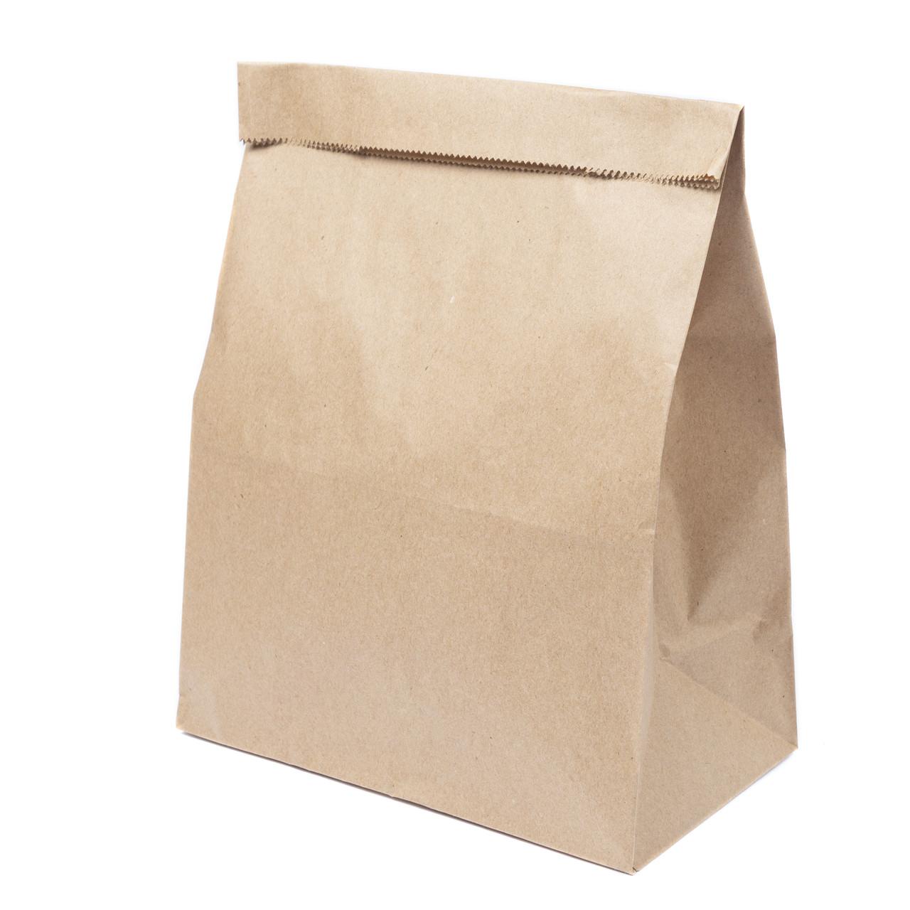 Бумажный пакет с дном 210*120*290 бурый