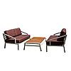 """Комплект меблів для літніх майданчиків """"Сансет"""" стіл (150*80) + 2 дивани"""