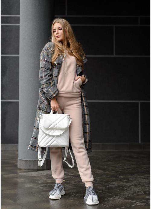 Белый женский рюкзак Рюкзак для девушки Женский рюкзачок Рюкзак женский Рюкзак для женщин