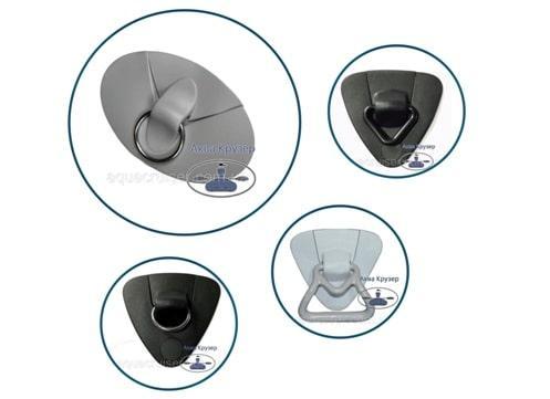 Комплектующие и фурнитура для лодки - буксировочный1 узел с кольцом - накладки пвх с кольцом на лодку