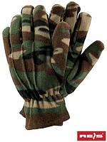Перчатки зимние флисовые камуфляж Rpolar-Moror