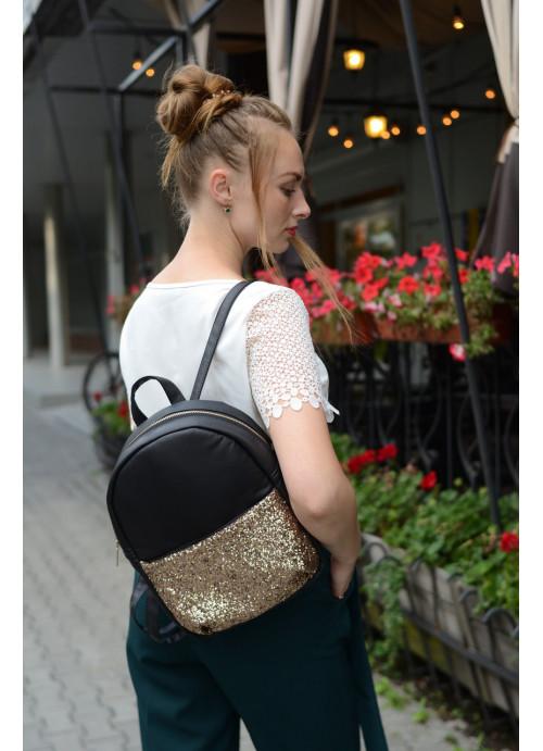 Рюкзак Sambag с глиттером черный