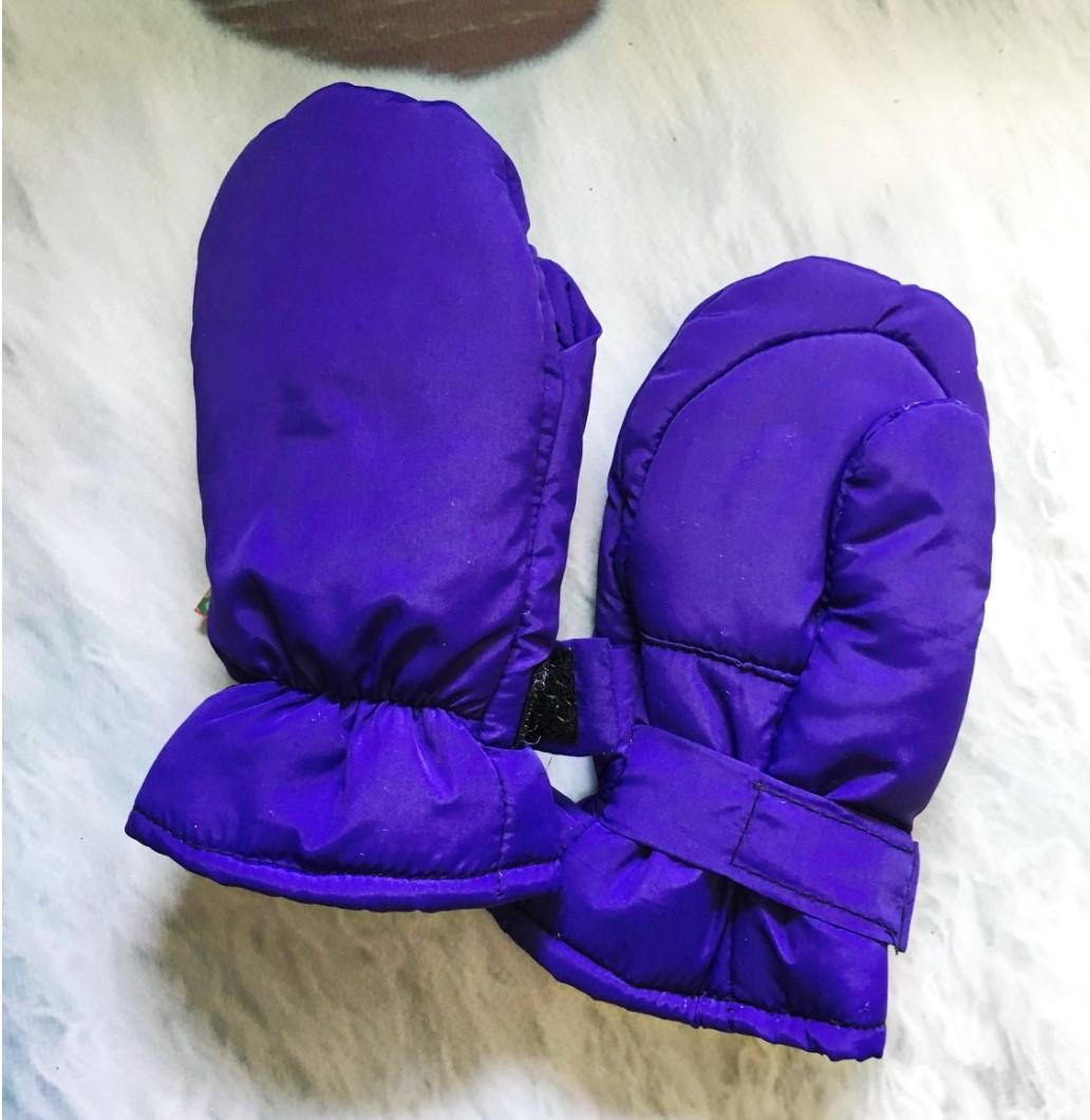Краги для малышей фиолетовые Детские зимние краги Краги зимние детские Детские краги