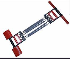 Эспандер плечевой 3 в 1, 5 пружин. Длина - 26 см.