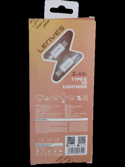 Кабель LENYES LC701Type-C/iPhone 1м 2.4A