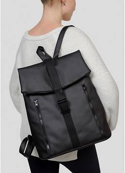 Черный женский рюкзак Женский рюкзак Стильный женский рюкзак Рюкзак для девушки Модный женский рюкзак