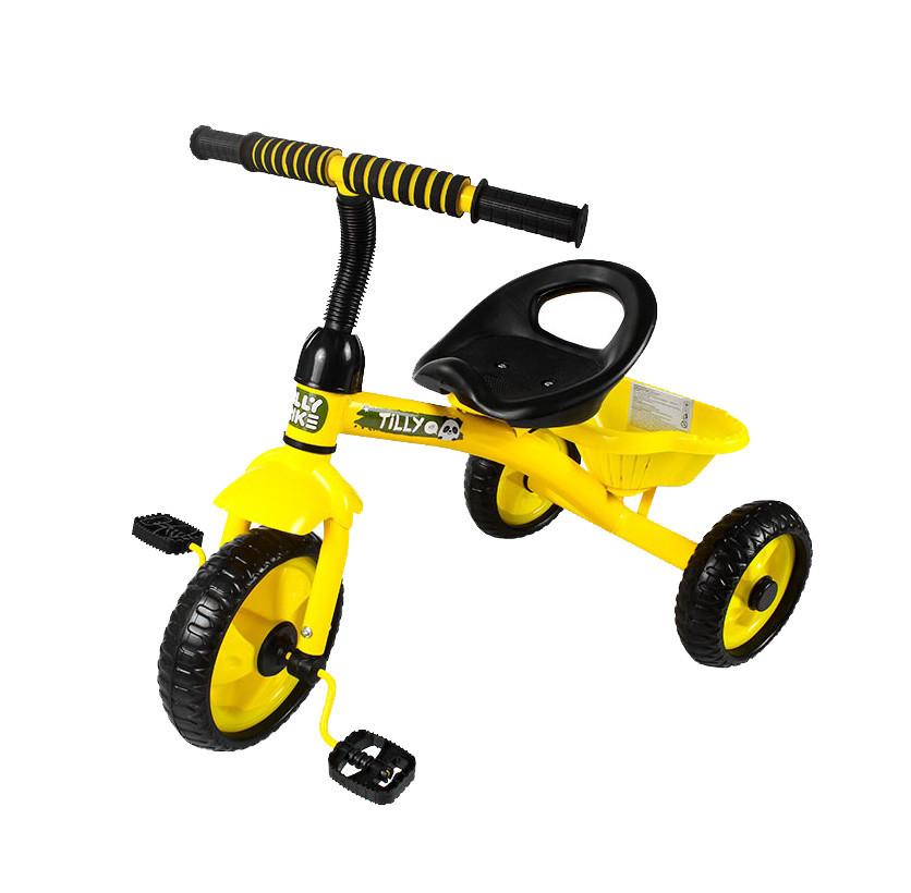 Детский трехколесный велосипед  Желтый трехколесный велосипед