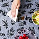 Антибактериальный коврик для холодильника и полок в рулоне ( прозрачный с листиками), фото 3