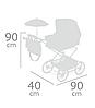 Детская классическая коляска для кукол и пупсов с зонтиком и регулируемым козырьком 82033 красная, фото 4