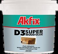 Клей ПВА Akfix D-3 1 кг влагостойкий супер прочный для дерева