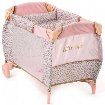 Кровать D-90186 для куклы,52-34-37см 2в1(манеж),колеса2шт,чехол,в кор-ке,40,5-28-12шт