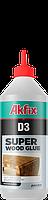Клей ПВА Akfix D-3 влагостойкий супер прочный для дерева 500гр