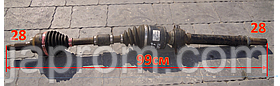 Полуось (привод) передняя правая Mazda 3 5 2009-2013г.в. 2.0 бензин