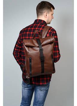 Рюкзак коричневый мужской Мужской рюкзак Рюкзак для парня Модный мужской рюкзак Стильный мужской рюкзак
