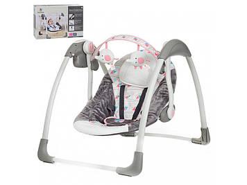 Качели детские электронные Шезлонг для сна ребенка Качели для новорожденной девочки
