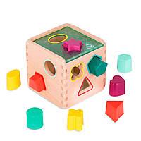 Развивающая деревянная игрушка-сортер - Волшебный куб Battat BX1763Z, фото 1