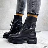 Женские ботинки ДЕМИ черные на шнуровке натуральная кожа, фото 6