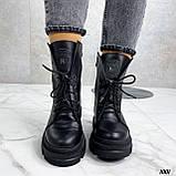 Женские ботинки ДЕМИ черные на шнуровке натуральная кожа, фото 7