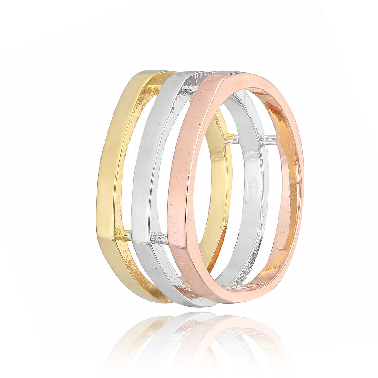Серебряное кольцо позолоченное К234/421 - 18,5