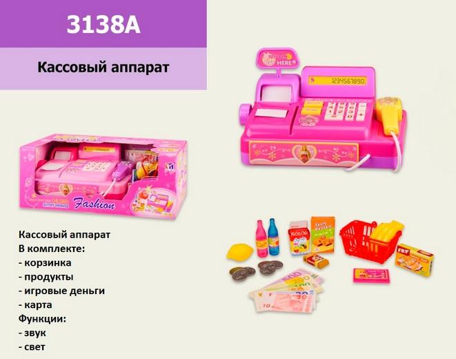 Детская касса 3138A кассовый апарат, музыкальный. pro