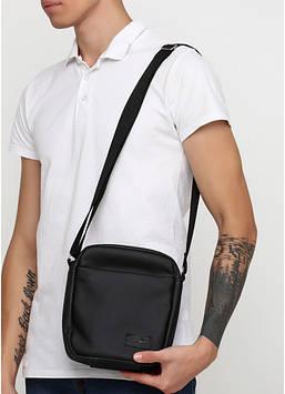 Сумка мессенджер черная с экокожи унисекс мужская сумка Сумка мужская Сумка для парня