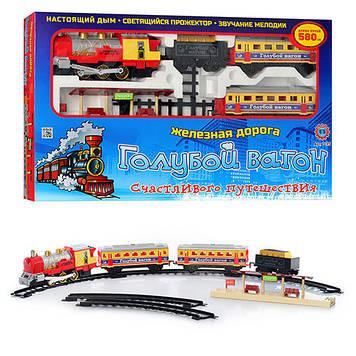 """Железная дорога """"Голубой вагон"""" 7016 (длина путей 580 см) Игрушечная железная дорога Детская железная дорога"""