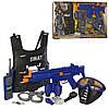 Игровой набор полицейского со звуком и светом LimoToy 34290, бронежилет, автомат, рация, наручники, фото 2