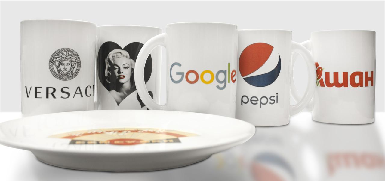 Печать на посуде, чашках, кружках