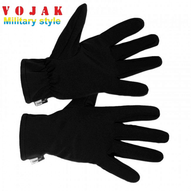 Перчатки зимние на флисе SoftShell (Black)