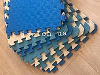 Детский коврик-пазл (мягкий пол татами ласточкин хвост) IZOLON EVA SPORT 500х500х10мм мягкий пол коврик пазл