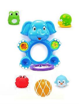 """Игрушка для купания баскетбол """"Слон"""" сетка, мячик, 4 брызгалки Игрушка для купания ребенка"""