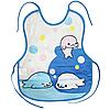Слюнявчик клеёнчатый с завязками (Тюлени)