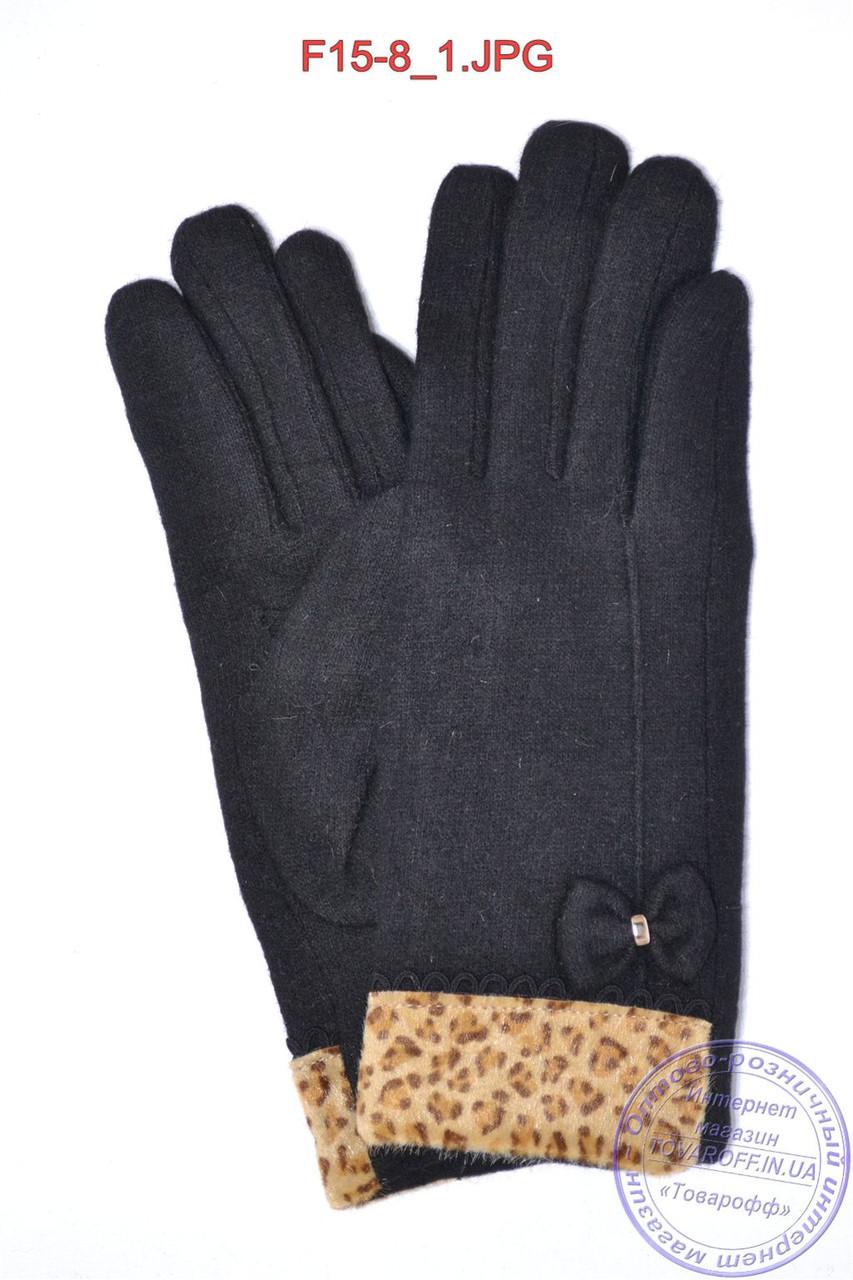 Женские кашемировые перчатки на плюше - F15-8