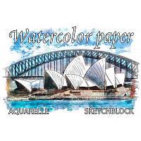 Альбом-планшет для акварели Watercolor Paper Sketchblock A4 склейка, 200 г/м2, 20 листов, AK 4920