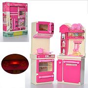 Кухня для кукол с холодильником  LS8206-08 со световыми и звуковыми эффектами, 2 вида, в коробке