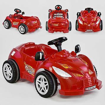 Машина педальная красная Веломобиль для ребенка Педальная машинка с клаксоном Веломобиль детям от 3-х лет
