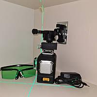 ПРЕМИУМ ВЕРСИЯ-ДИОДЫ SHARP <БИРЮЗОВЫЙ ЛУЧ 50м Лазерный нивелир DEKO DKLL12PB2 ОТКАЛИБРОВАН в 0мм