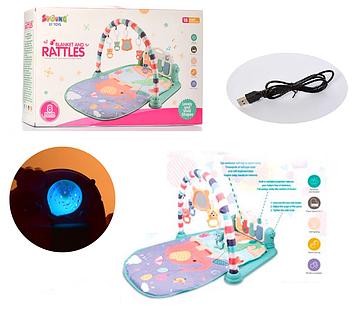 Развивающий коврик для младенца Игровой коврик для ребенка с проектором