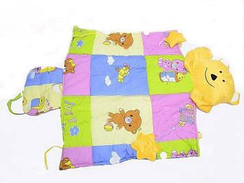 Мягкий игровой коврик для младенца Развивающий коврик для ребенка с рождения