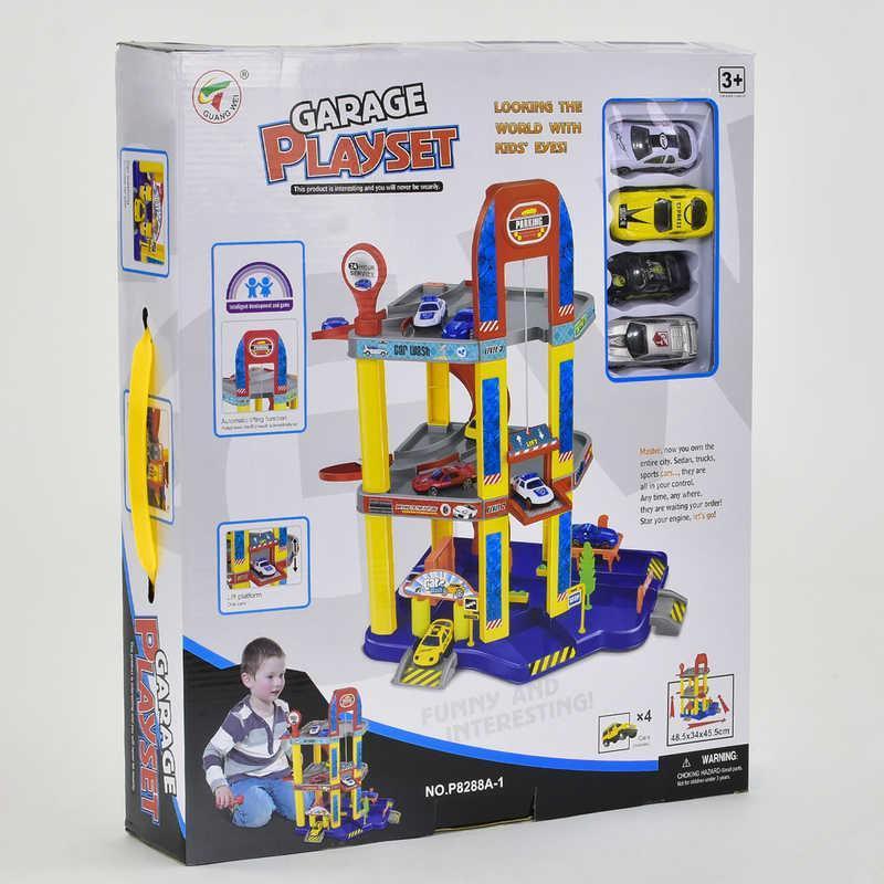 Гараж Р 8288 А-1 (8) 4 машинки, 3 этажа, лифт, в коробке