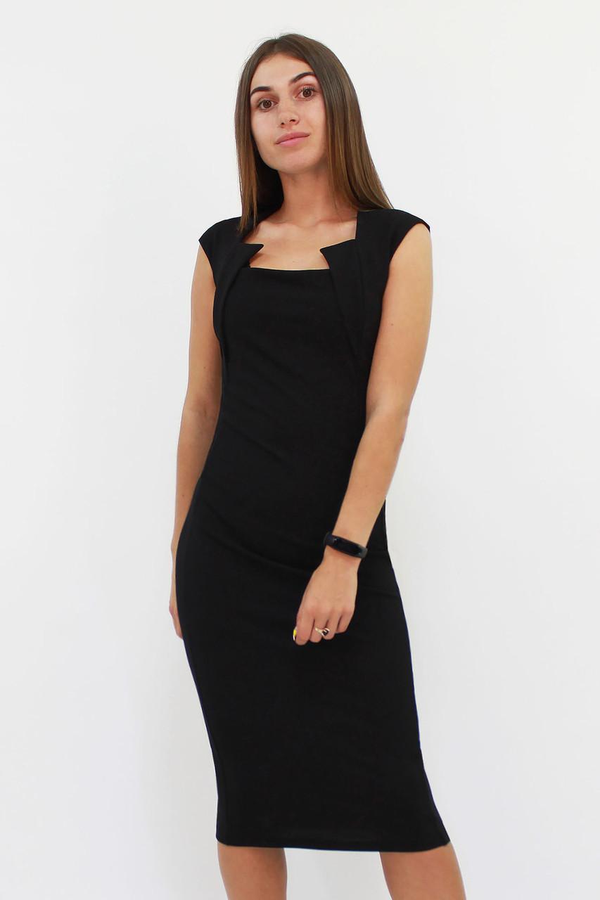 Классическое женское платье-футляр Roksen, чорний