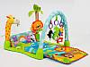 Музыкальный развивающий коврик с погремушками Игровой коврик для ребенка от 0 мес, фото 2