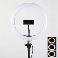 Кольцевая лампа Led 30 см со штативом и с держателем для телефона для селфи и юных блоггеров SKL11-277584