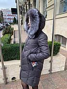 Пуховик сірий з капюшоном Visdeer 866-B11, фото 5