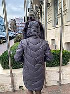 Пуховик сірий з капюшоном Visdeer 866-B11, фото 6