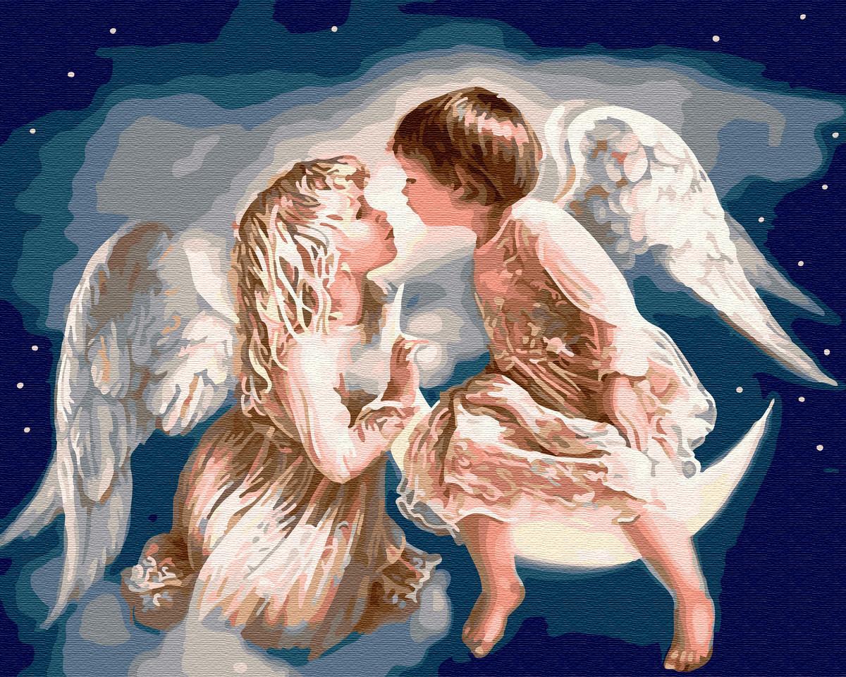 Картина по номерам Ангелочки 40х50 Yarik's (без коробки)