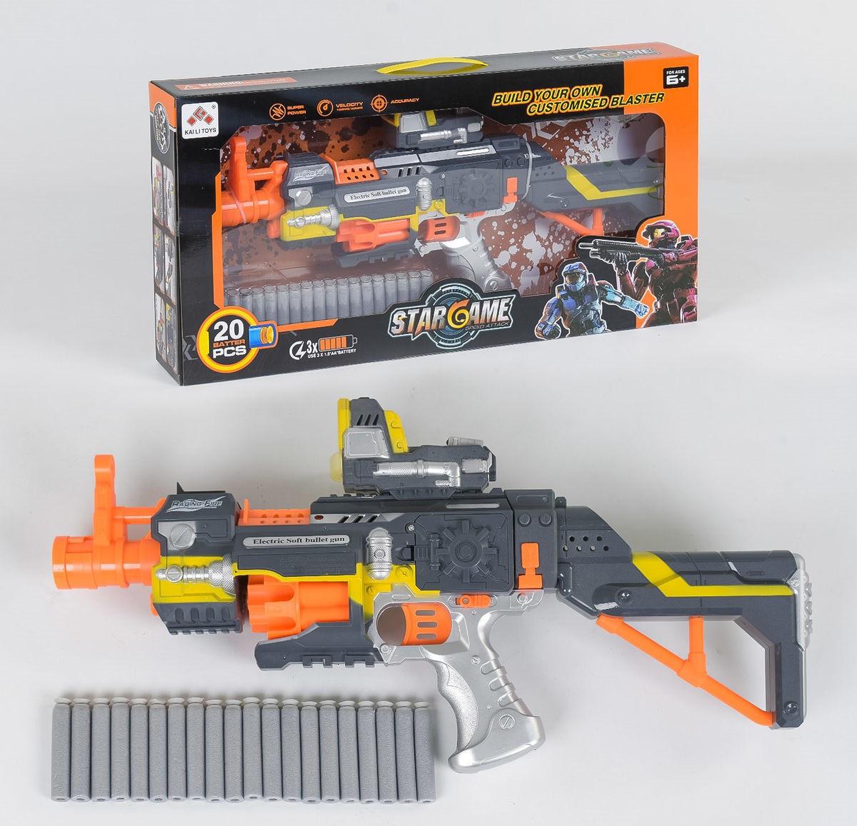 Автомат с мягкими пулями, звук, на батарейках Детское ружьё Детское оружие Игрушечный автомат
