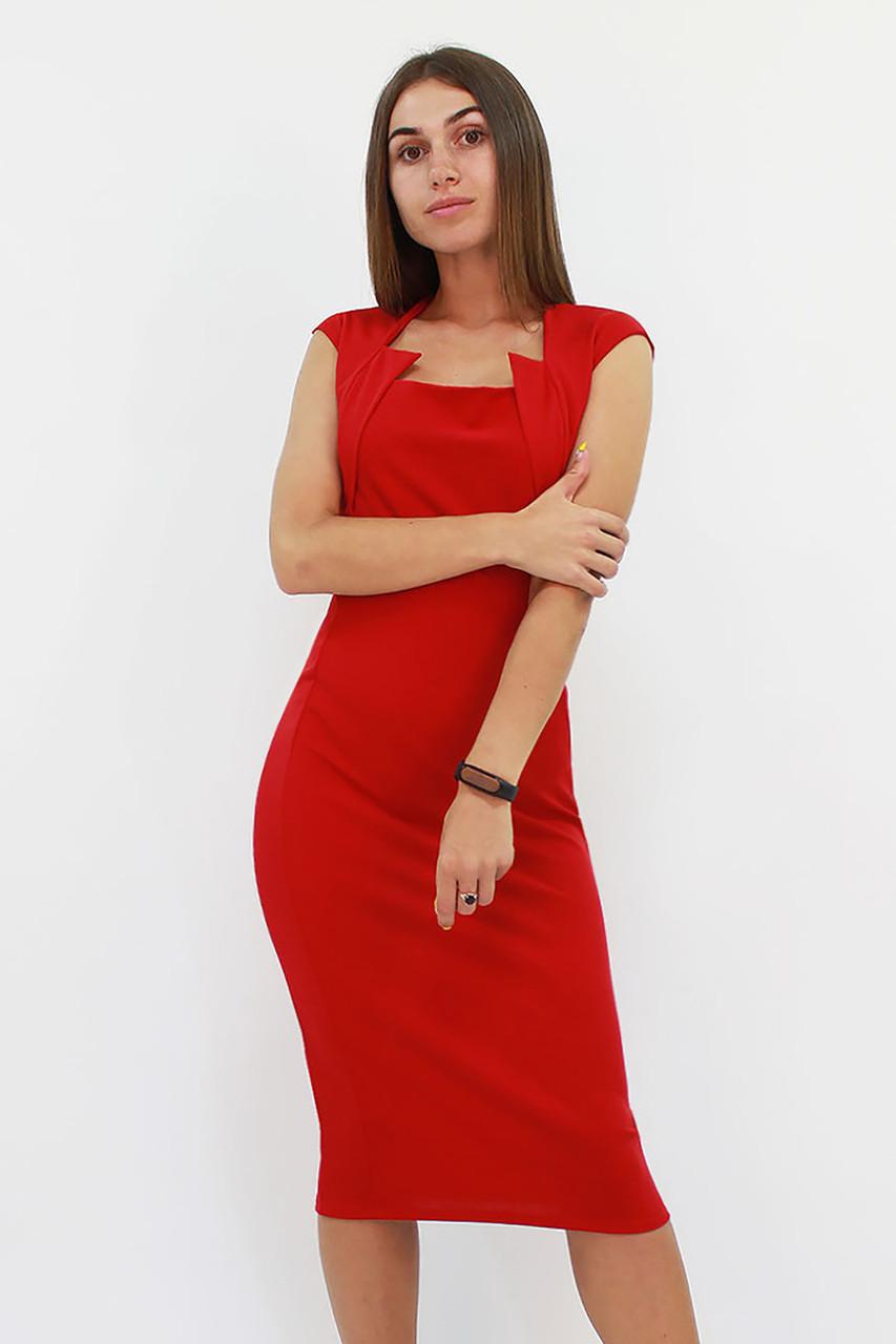 Классическое женское платье-футляр Roksen, красный