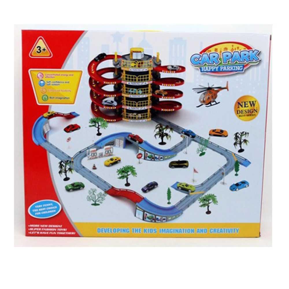 Детский игровой набор Гараж Автотрек детский Детский трек Треки с машинками Игрушечный трек Трек игрушка